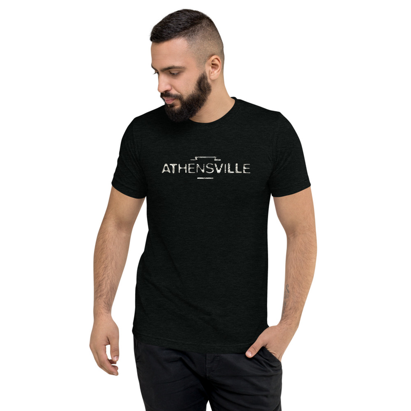 """ATHENSVILLE"" logo - short sleeve tri-blend t-shirt"