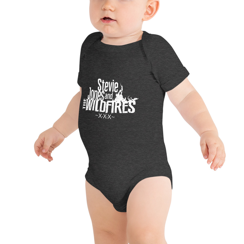 Baby Short Sleeve White Logo One Piece