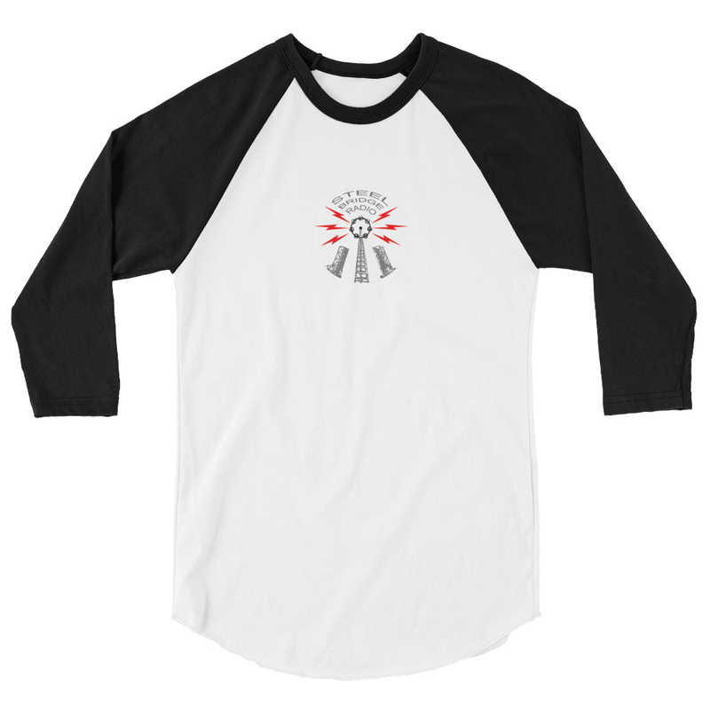 Steel Bridge Radio Unisex 3/4 sleeve raglan shirt
