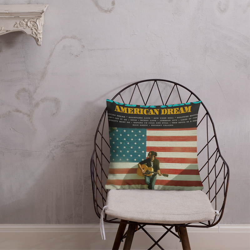 Bob Spring American Dream - CD Cover Premium Pillow