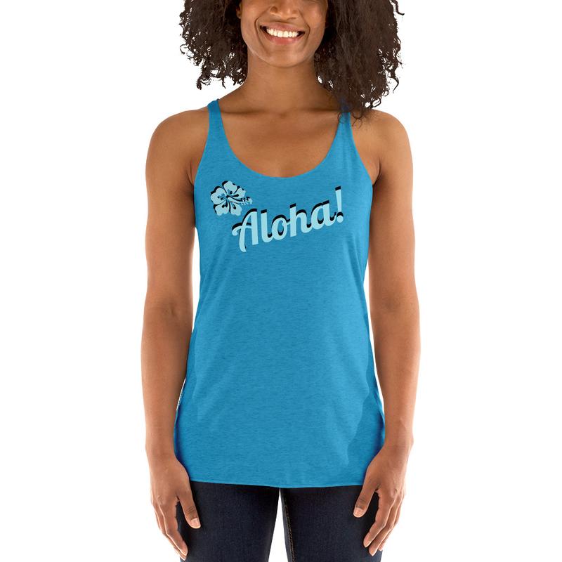 Women Tank Aloha-blue ink