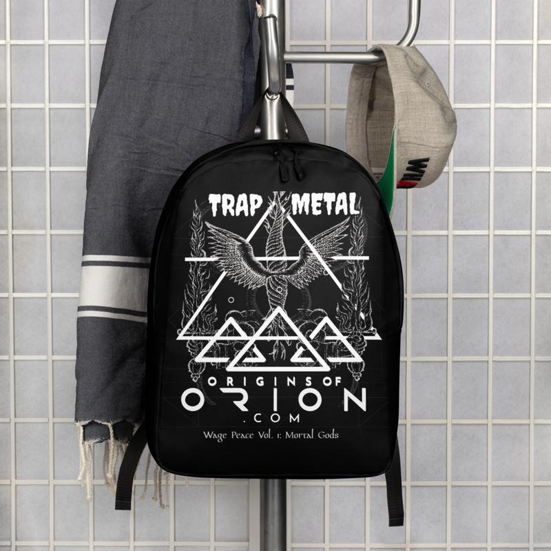 Origins Of Orion Wage Peace Vol 1. Mortal Gods Alternative Music Minimalist Backpack