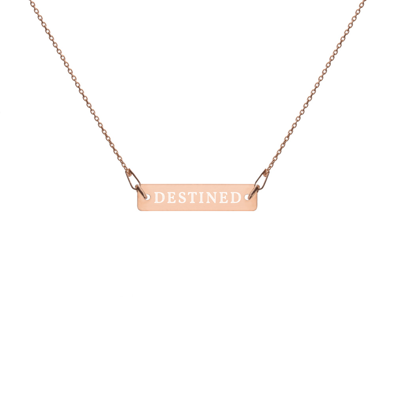 "Engraved ""Destined"" Necklace"