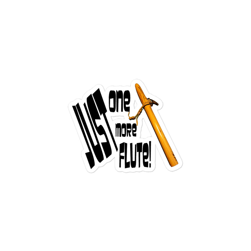 Just One More Flute - Bubble-free stickers