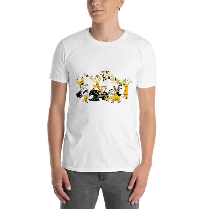 Jive Aces Men's White Toon T-Shirt