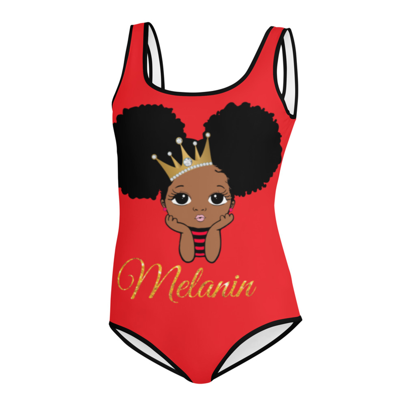 Princess Melanin All-Over Print Youth Swimsuit