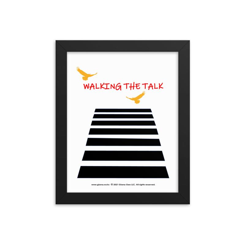 Walking The Talk Framed poster