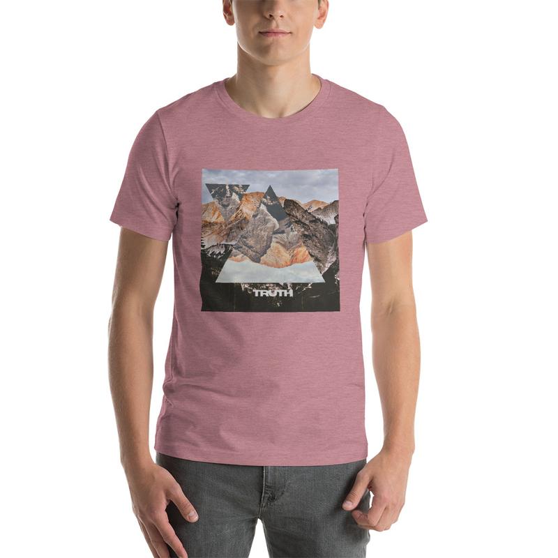 Truth Lofi Hip Hop Music Melancholy T-Shirt, Geometric Mountain