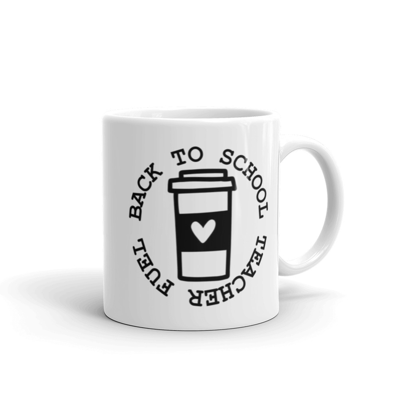 White glossy mug Teacher Fuel