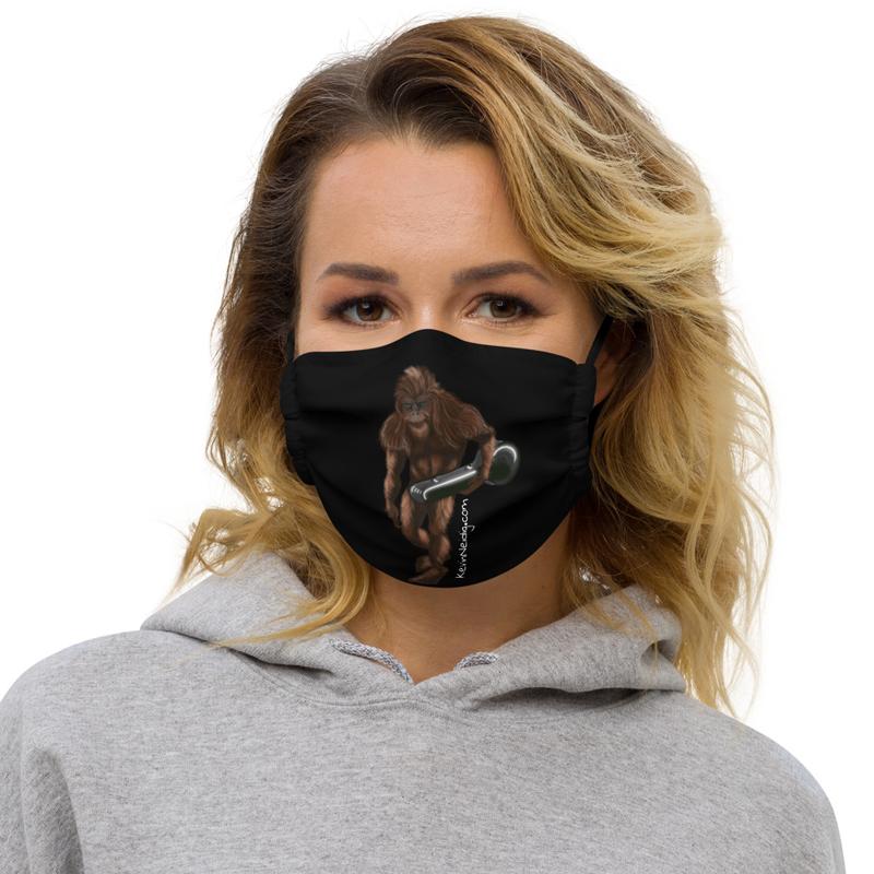 Sasquatch Banjo Premium face mask