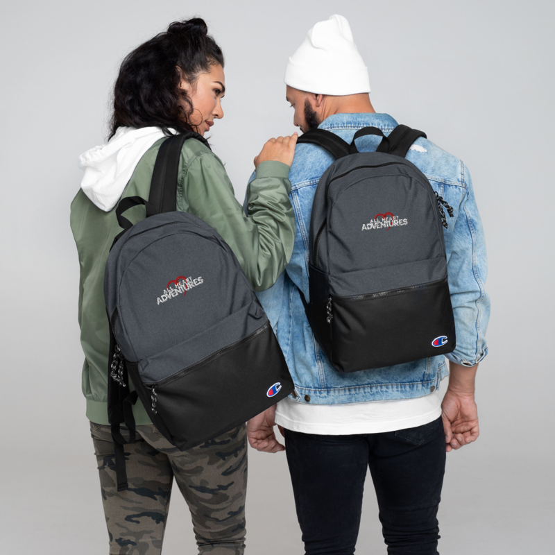 All Heart Adventures Embroidered Champion Backpack