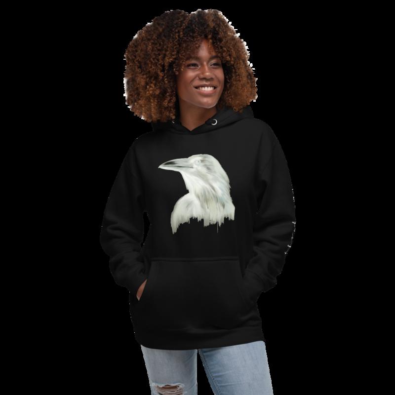 EXCLUSIVE Negative Raven Unisex Hoodie by Alaska Greyy