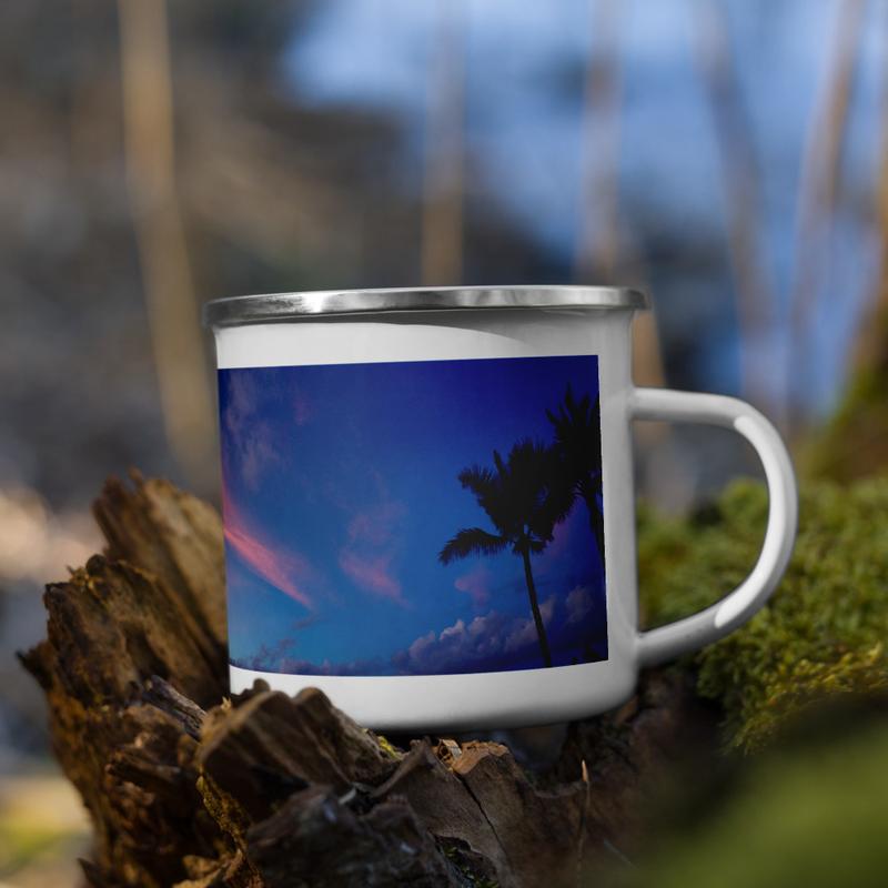 Hilo Bay Sunset Enamel Mug