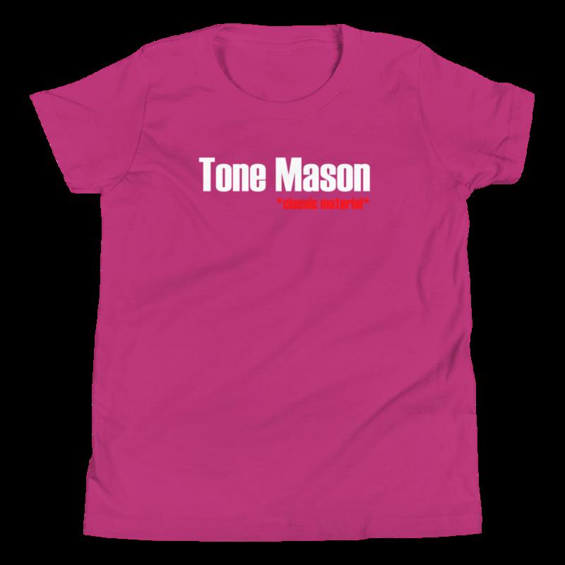 TM Classic Material WHT Logo Youth Short Sleeve T-Shirt