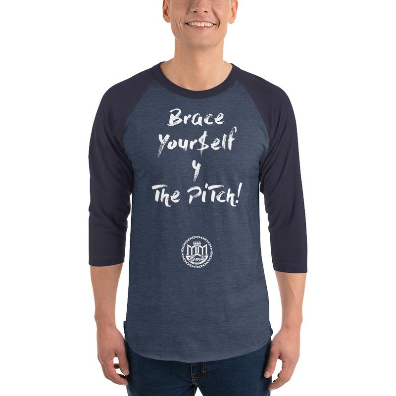 3/4 sleeve raglan shirt - white lettering