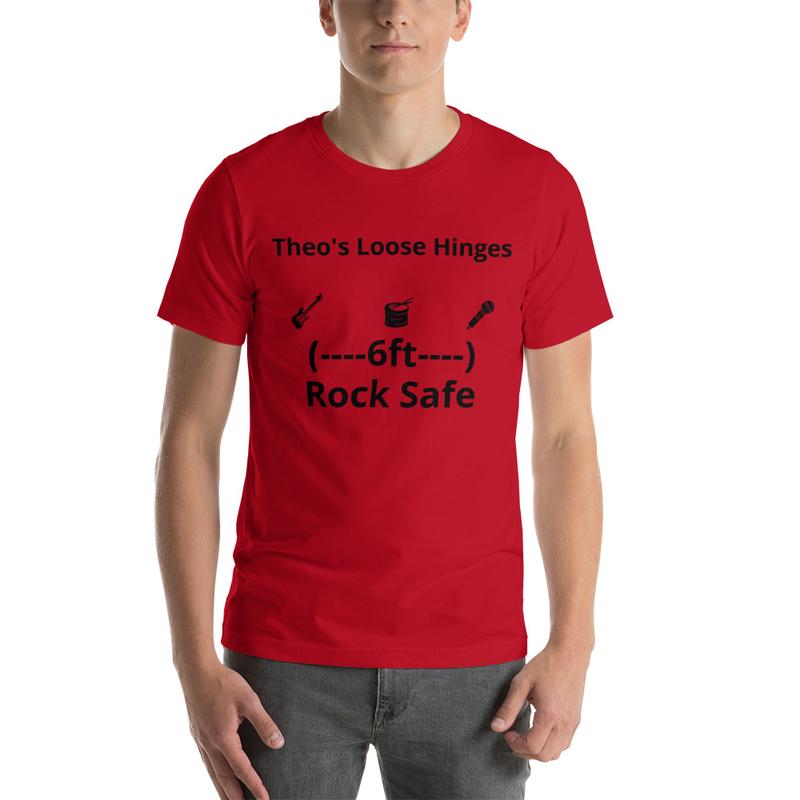 Short-Sleeve Unisex T-Shirt Social distance Loose Hinges T-shirt