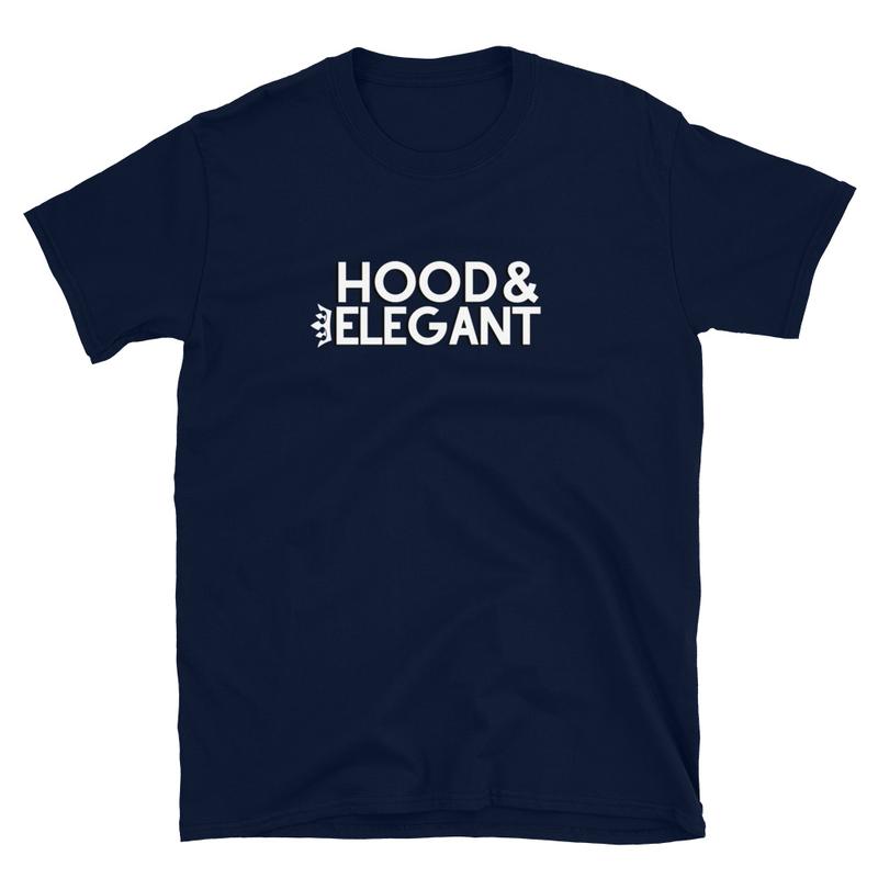 NAVY HOOD & ELEGANT T-SHIRT