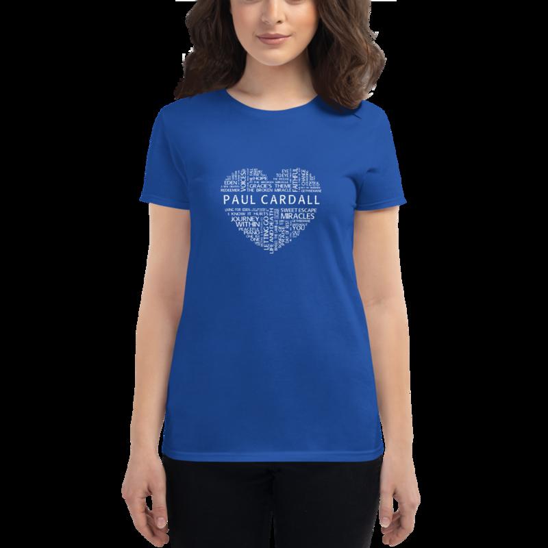 Heart of Paul Cardall Women's short sleeve t-shirt