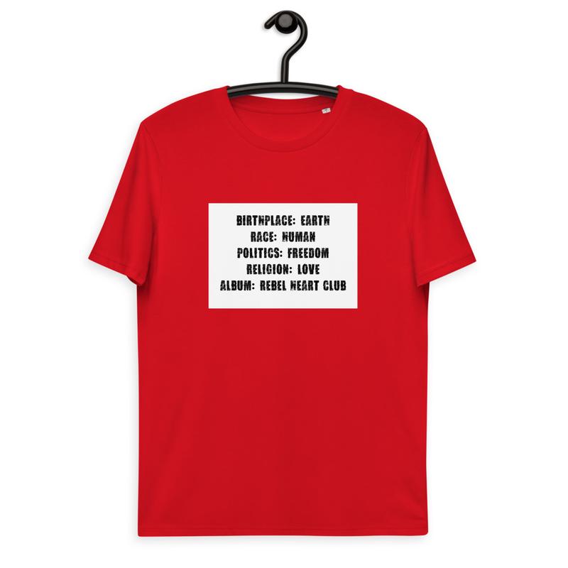 Rebel Heart Club Unisex organic cotton t-shirt