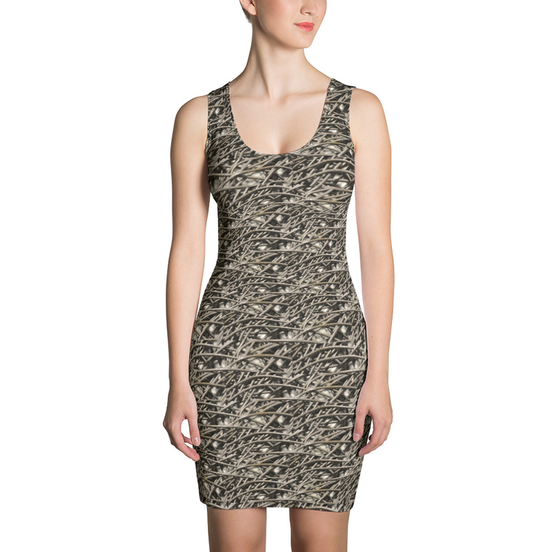 Gray Abstract Sublimation Cut & Sew Dress