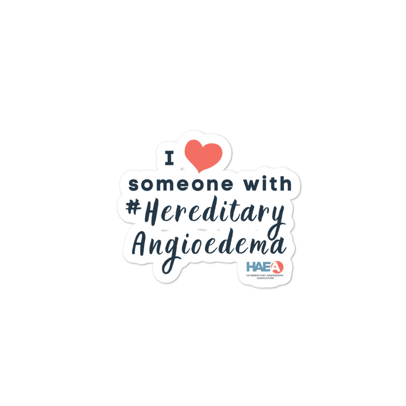 Accessories - I love someone with HAE Sticker