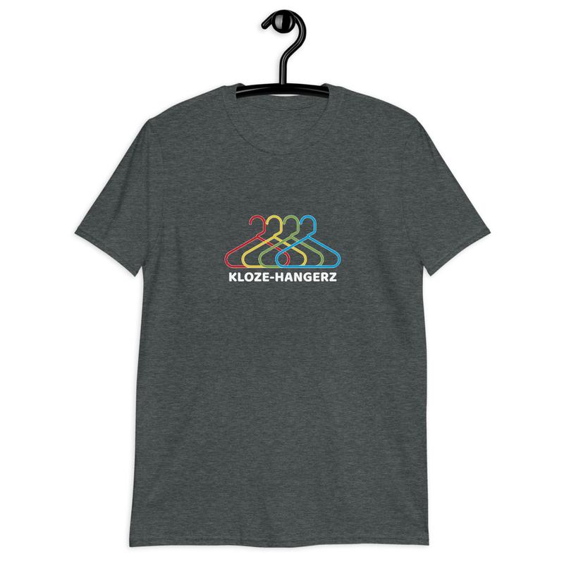Short-Sleeve Unisex T-Shirt - Kloze-Hangerz (w/ CGK logo on upper back) - White Text