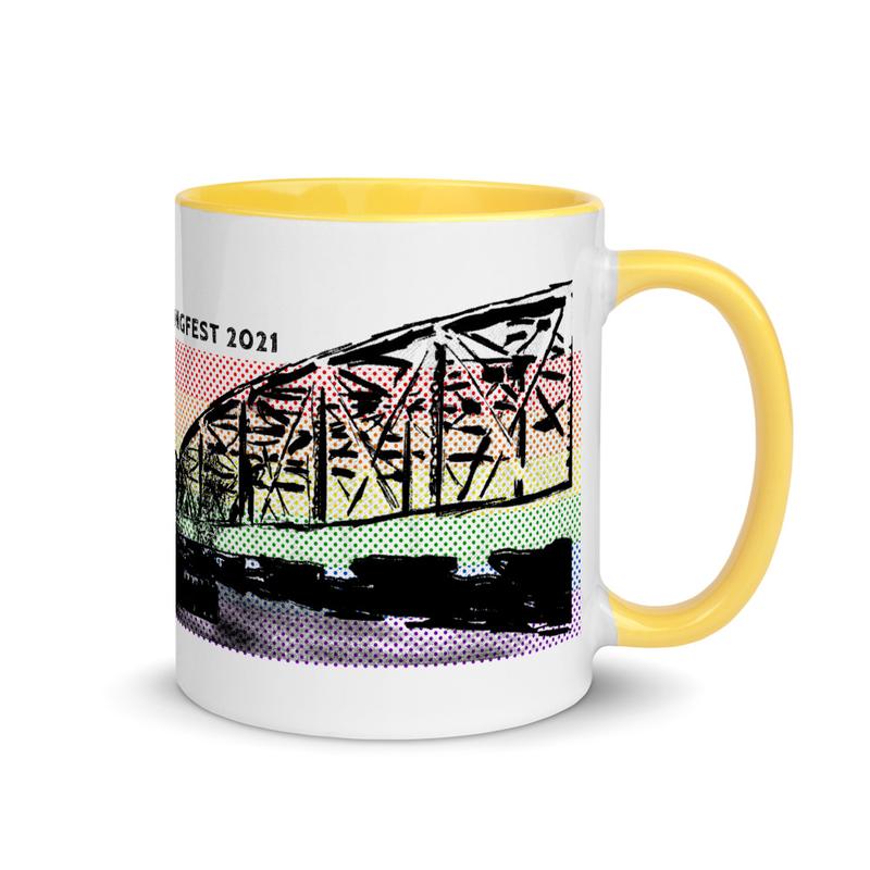 Steel Bridge Stripe Coffee Mug