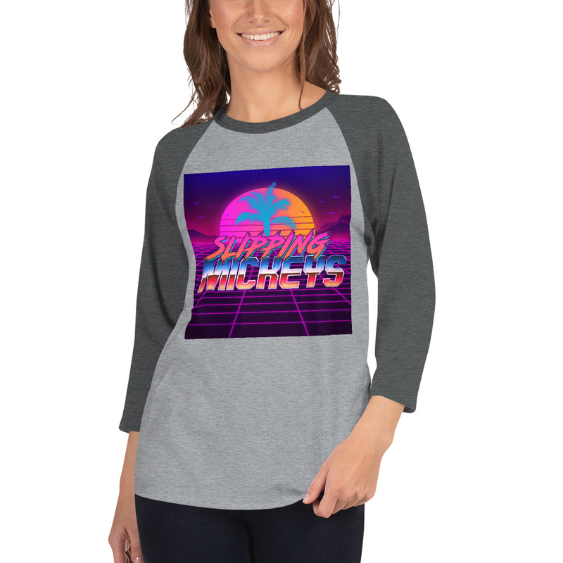 Slipping Mickeys 3/4 Sleeve Raglan Shirt