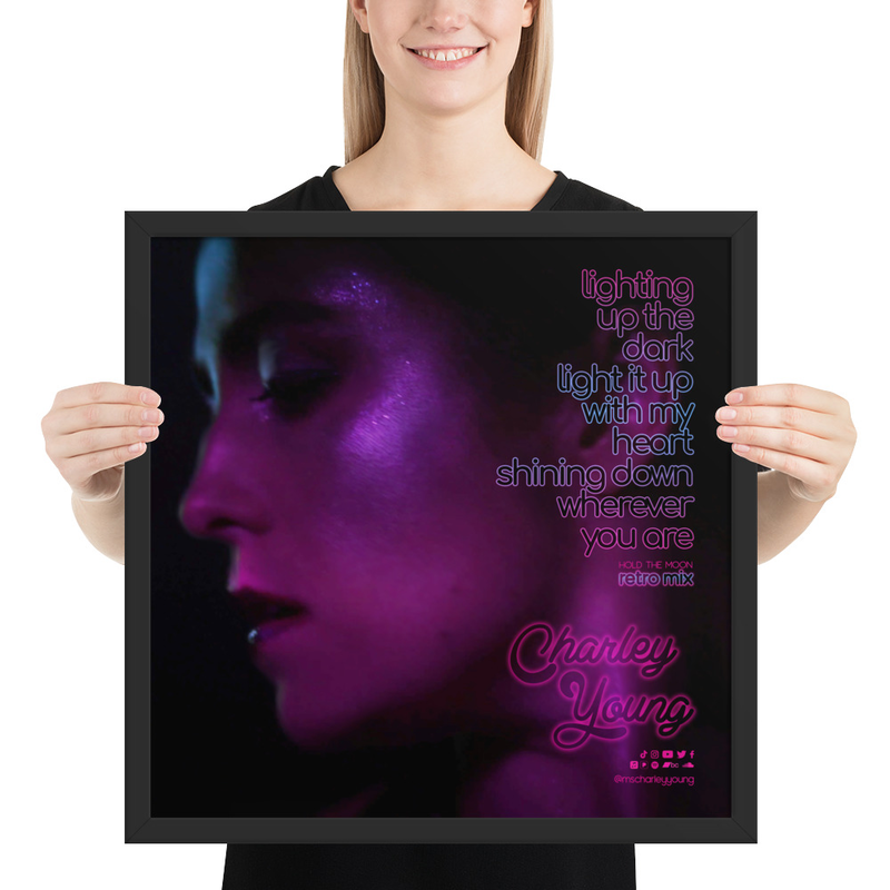 Hold the Moon (Retro Mix) Lyric Framed Poster