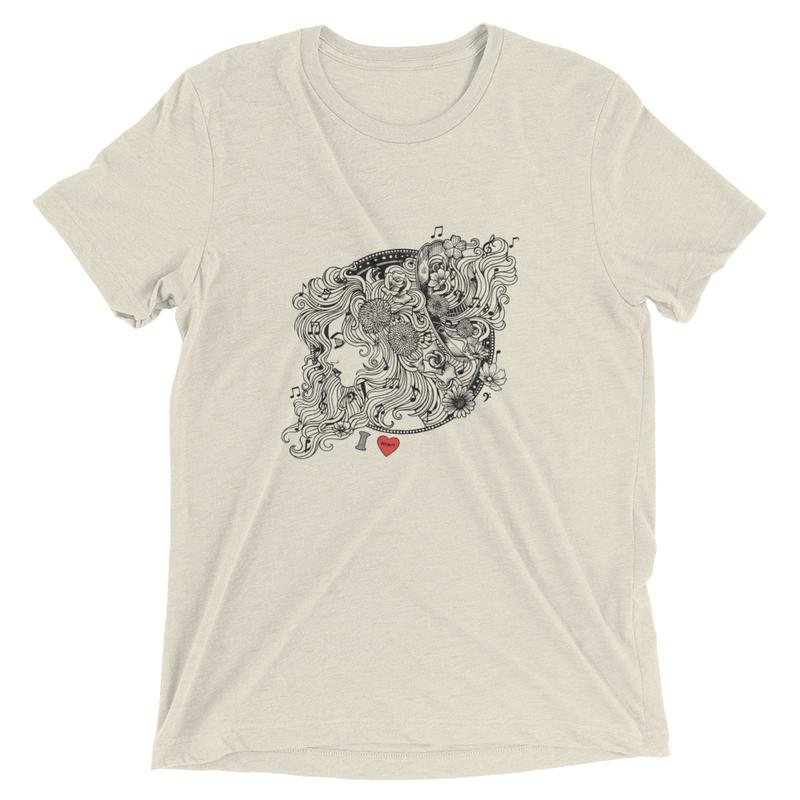 I HEART Unisex Short sleeve t-shirt