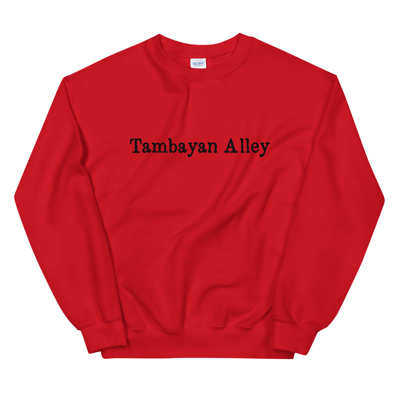 TAMBAYAN ALLEY (Black Text) Unisex Sweatshirt