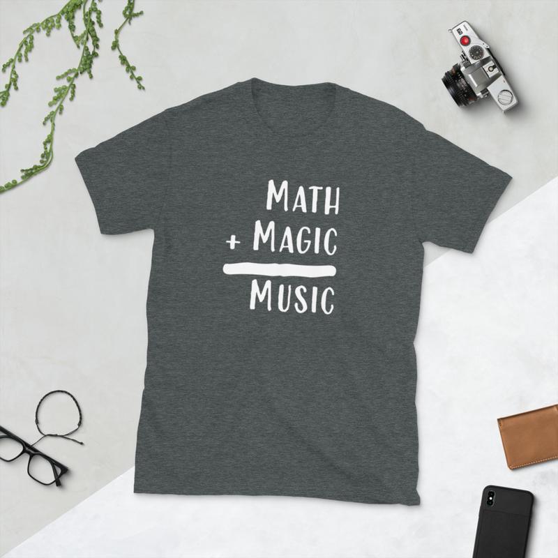 Math + Magic = Music Shirt (Unisex Basic Softstyle T-Shirt | Gildan 64000)