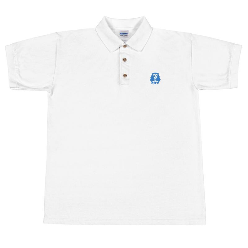 Lion & Lamb (Royal Blue) Embroidered Polo Shirt