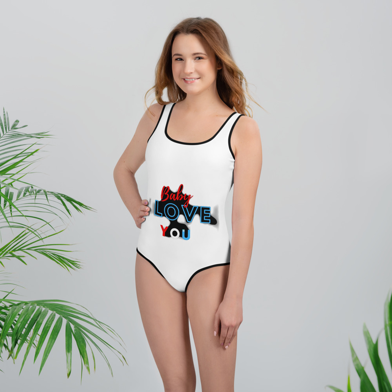 Baby I love you All-Over Print Youth Swimsuit