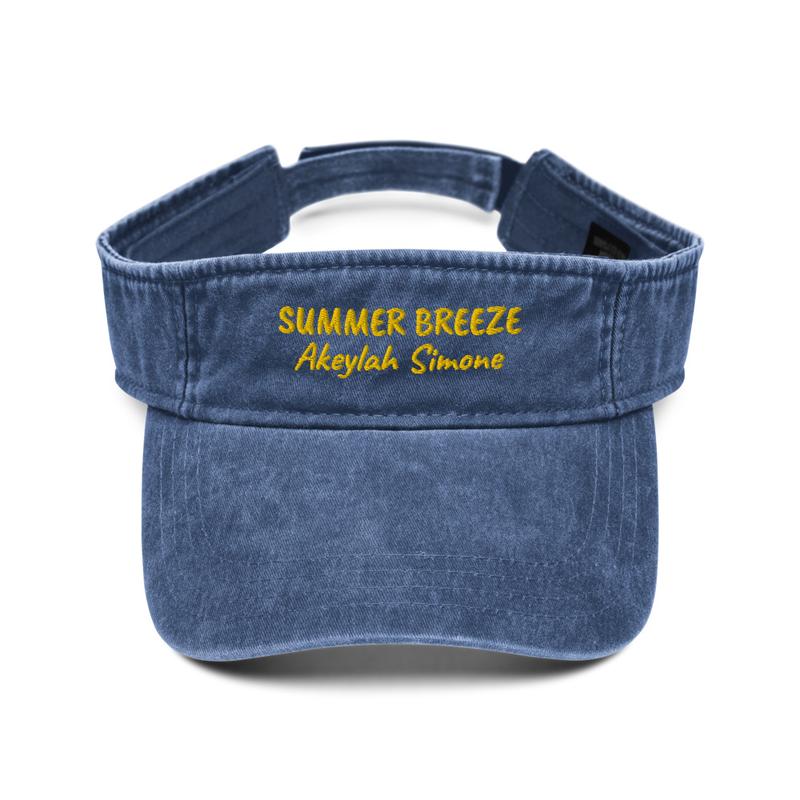 Summer Breeze Denim Visor