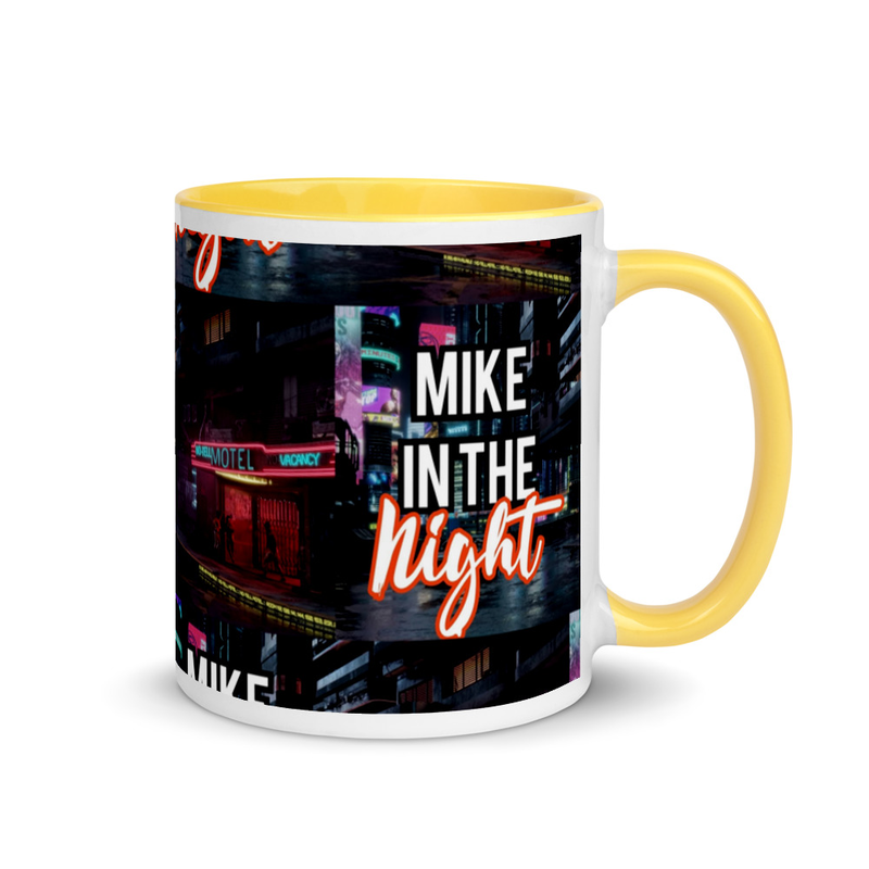 Mike in the Night Mug with Colour Inside