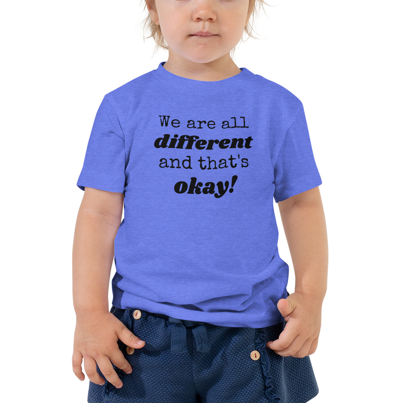 We Are All Different- Toddler Tee