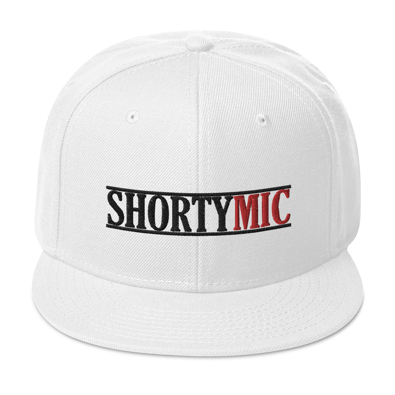 Shorty Mic, White, Snapback Hat