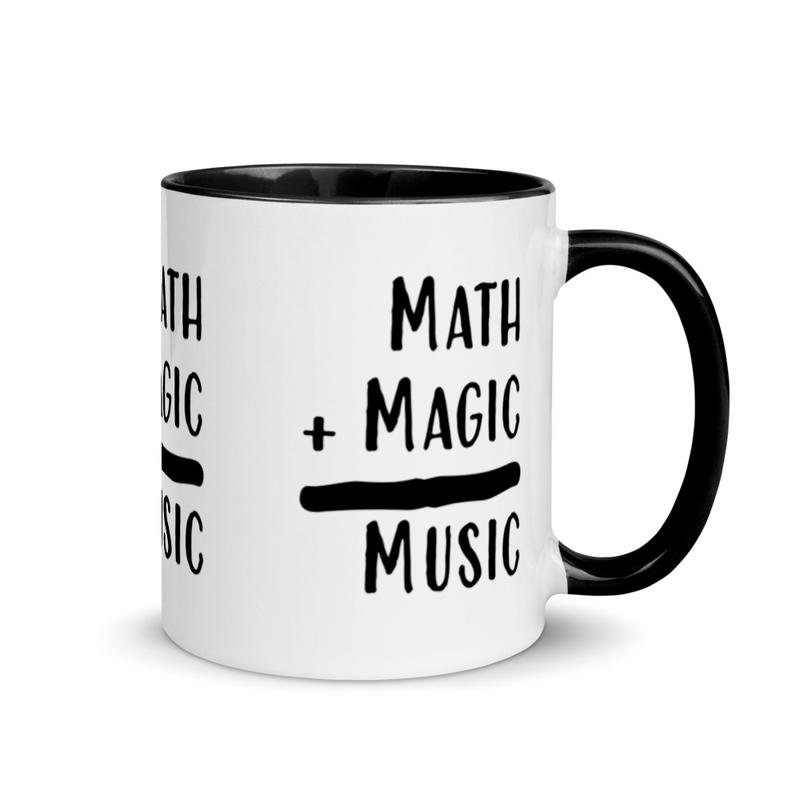 Math + Magic = Music Pattern Mug (Left, Center and Right)
