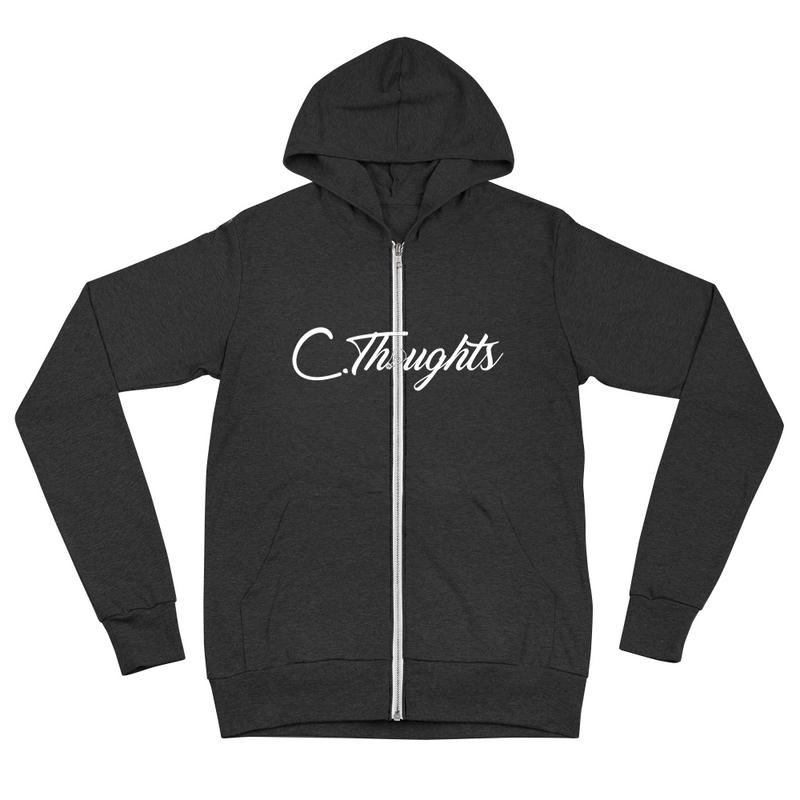 C.Thoughts Logo Black Zip Hoodie