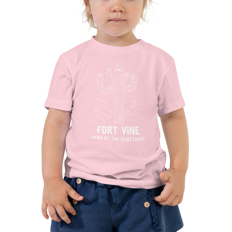 Psychedelic Cactus Kids-Tee (White Ink)