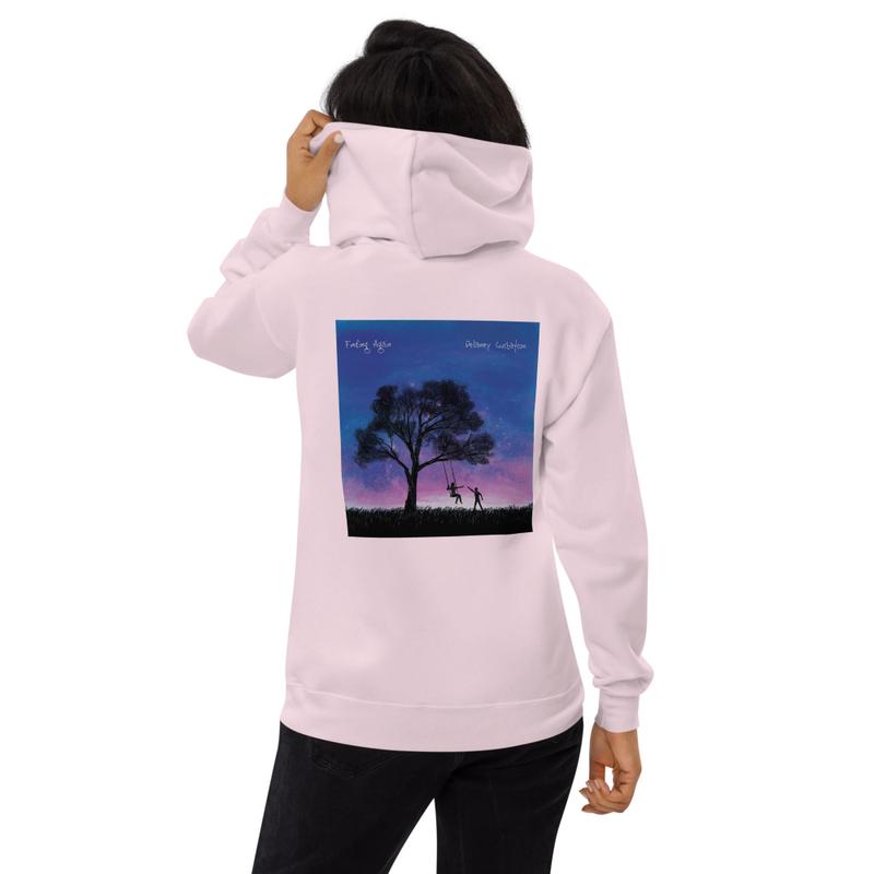 """Unisex """"Finding Again"""" fleece hoodie"""