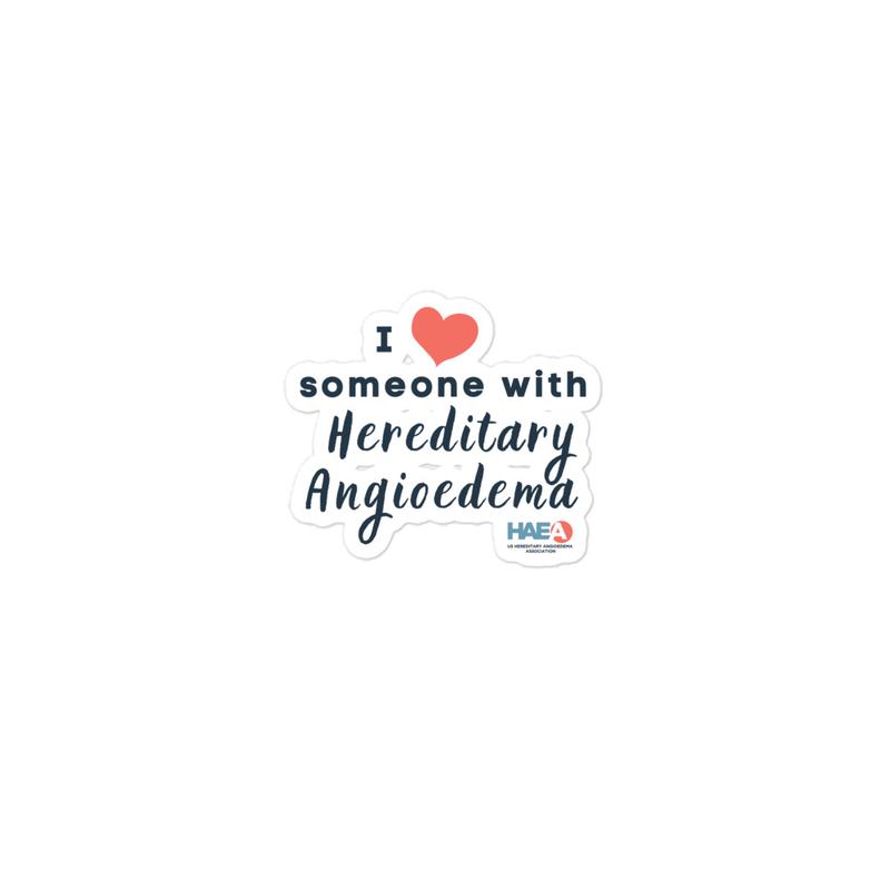 Accessories - I love someone with HAE Sticker