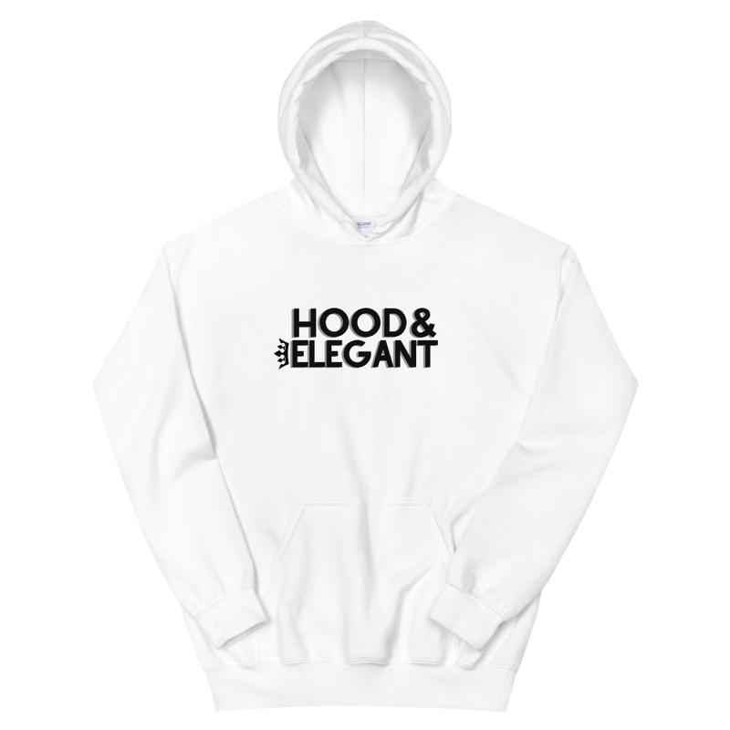 WHITE HOOD & ELEGANT HOODIE