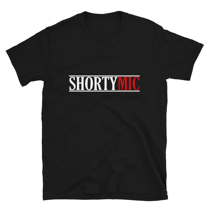 Shorty Mic, T-Shirt, Black