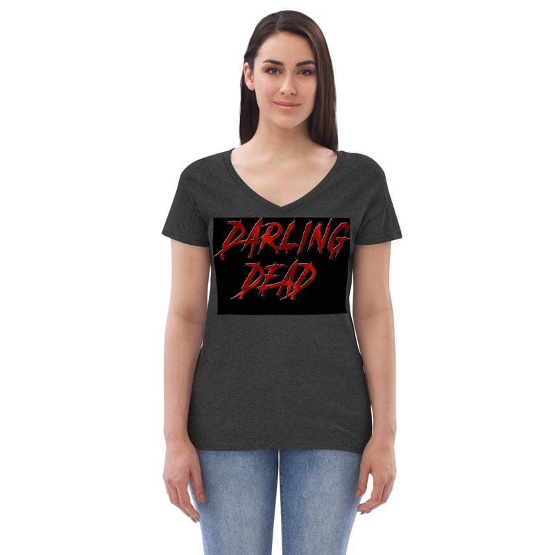 Darling Dead Logo Women's recycled v-neck t-shirt