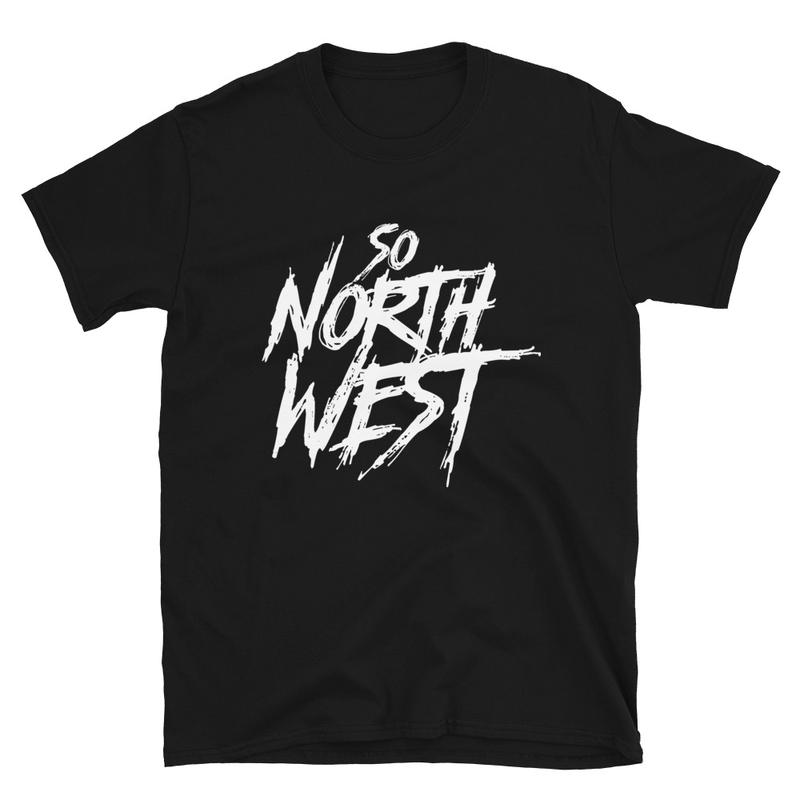 So North West White Logo Short-Sleeve Unisex T-Shirt