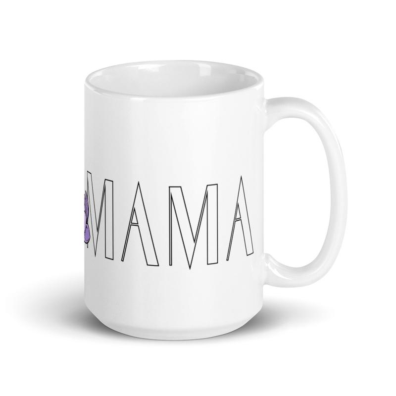 BGIRL MAMA Small Logo White glossy mug