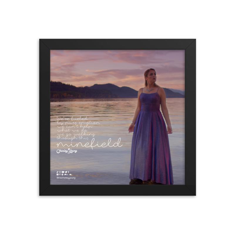 Minefield Lyric Framed Poster