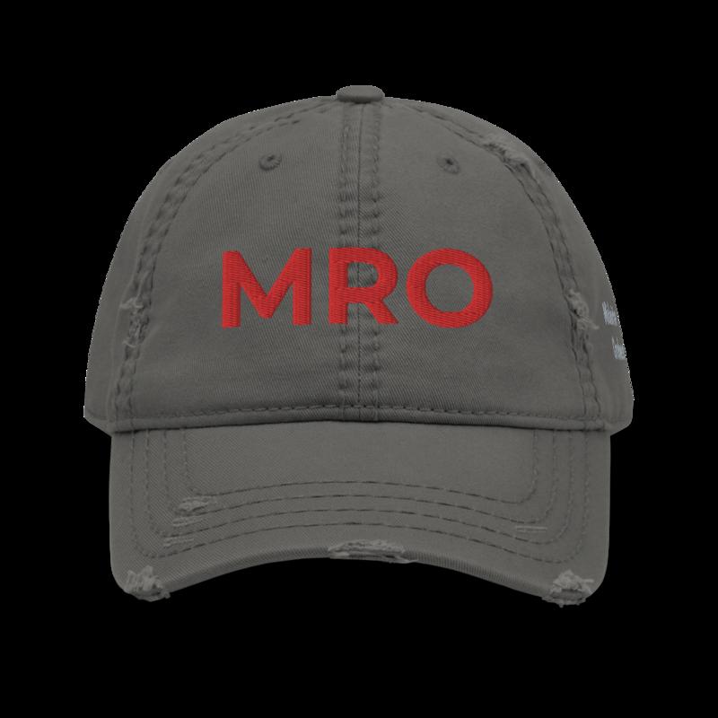 MRO Acronym Distressed Hat